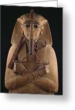 A Wooden Coffin Case Of The Pharaoh Greeting Card