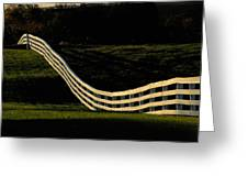 A Wooden Fence At The Shaker Village Greeting Card