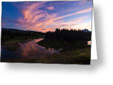 A Wyoming Sunset Greeting Card