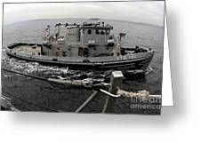 A Yokosuka Naval Tugboat Prepares Greeting Card
