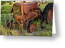 Abandonded Farm Tractor 1 Greeting Card