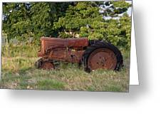 Abandonded Farm Tractor 2 Greeting Card