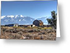 Abandonded Homestead In San Luis Valley Greeting Card