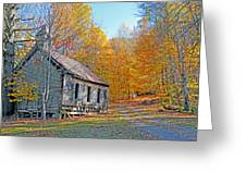 Abandoned Church Greeting Card by Alan Lenk