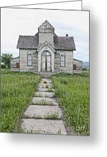 Abandoned Countryside Church Greeting Card