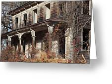 Abandoned Dilapidated Homestead Greeting Card