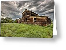 Abandoned Farm Buildings Saskatchewan Greeting Card