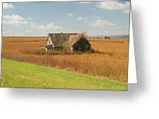 Abandoned Farmhouse In Field 2 Greeting Card