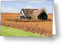 Abandoned Farmhouse In Field 4 Greeting Card