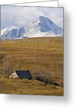 Abandoned Farmhouse Outside Of Waterton Greeting Card