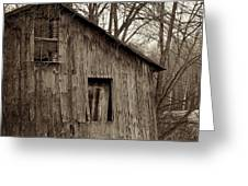 Abandoned Farmstead Facade Greeting Card