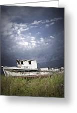 Abandoned Fishing Boat In Washington State Greeting Card
