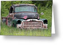 Abandoned Gmc Truck Greeting Card
