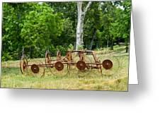 Abandoned Hay Rake 2 Greeting Card