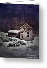 Abandoned House In Infrared Greeting Card