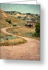 Abandoned House On Dirt Road Greeting Card