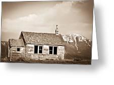 Abandoned Montana Shcoolhouse Greeting Card