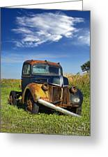 Abandoned Rusty Truck Greeting Card