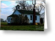Abandoned School House Greeting Card