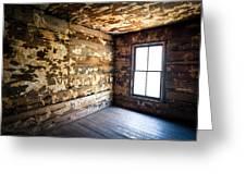 Abandoned Smoky Mountains Farm House - The Window Greeting Card