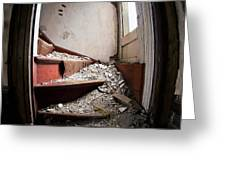 Abandoned Stairs Greeting Card