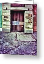 Abandoned Urban Building Greeting Card