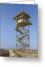 Abandoned Watchtower In The Desert Greeting Card