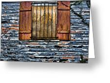 Abandoned Wood Building Greeting Card