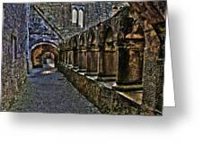 Abbey Corridor Greeting Card
