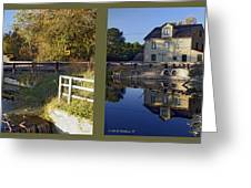 Abbotts Pond - Gently Cross Your Eyes And Focus On The Middle Image Greeting Card