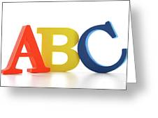 Abc Letters On White  Greeting Card