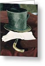 Aberaham Lincolns Hat, Cane And Gloves Greeting Card