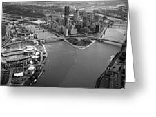 Above Pittsburgh  Greeting Card