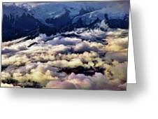 Above The Clouds Greeting Card