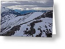 Above The Ridge Greeting Card