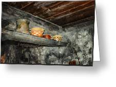 Above The Stove Greeting Card by Jutta Maria Pusl