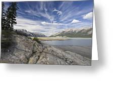 Abraham Lake Created By Bighorn Dam Greeting Card