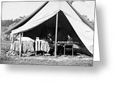 Abraham Lincoln Meeting With General Mcclellan - Antietam - October 3 1862 Greeting Card