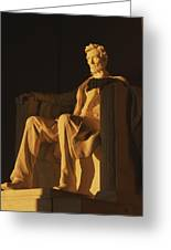 Abraham Lincoln Statue In Lincoln Greeting Card