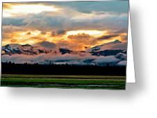 Absaroka Sunset Greeting Card