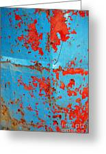Abstrac Texture Of The Paint Peeling Iron Drum Greeting Card