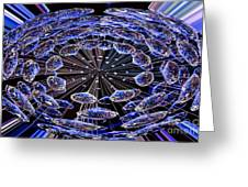 Abstract - Blue Diamonds Greeting Card
