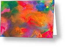 Abstract - Crayon - Melody Greeting Card