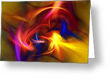 abstract 112811A Greeting Card