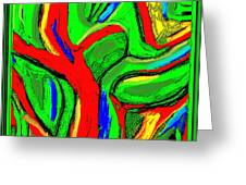 Abstract 421 Greeting Card