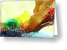 Abstract 5 Greeting Card by Anil Nene