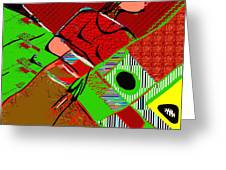 Abstract 629 Greeting Card