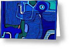 Abstract 791 Greeting Card