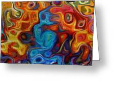 Abstract - And The Night Crept In Greeting Card