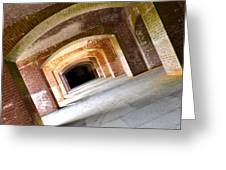 Abstract Archways Fort Point Greeting Card
